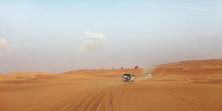 Dubai. Desert driving Royalty Free Stock Image