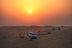 Dubai. Desert driving Stock Photos