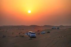 Dubai. Desert driving Stock Photos