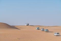 Dubai Desert safari. Dune bashing in dubai desert terrain captured in july 2017 Royalty Free Stock Image