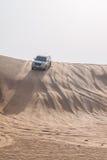 Dubai Desert Safari. Dune bashing in dubai desert terrain captured in july 2017 Stock Photography