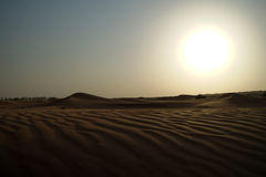 Dubai desert sand dunes Stock Photo