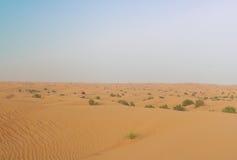 Dubai desert sand dunes Stock Images