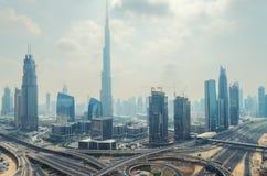 Dubai downtown Stock Image