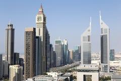 Dubai downtown beautiful city view Stock Photos