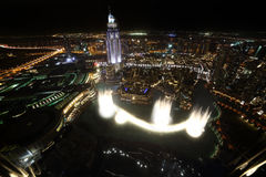 Dubai downtown beautiful city view Stock Photos