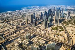 Dubai downtown. East, United Arab Emirates architecture Royalty Free Stock Images