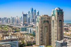 Dubai downtown. East, United Arab Emirates architecture Royalty Free Stock Image