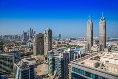 Dubai downtown. East, United Arab Emirates architecture Stock Photo