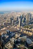 Dubai downtown. East, United Arab Emirates architecture Stock Photos