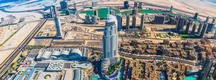 Dubai downtown. East, United Arab Emirates architecture. Aerial Royalty Free Stock Photography
