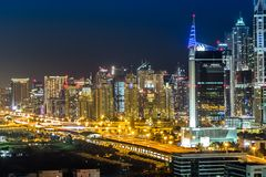 Dubai downtown. East, United Arab Emirates architecture Royalty Free Stock Photos