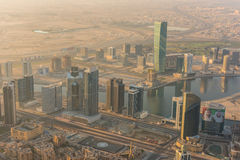 Dubai downtown morning scene Stock Photo