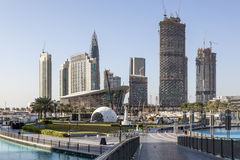 Dubai Downtown and the new Opera House Royalty Free Stock Photo