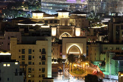 Dubai Downtown at night Royalty Free Stock Photos