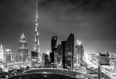 Dubai downtown skyline Stock Image