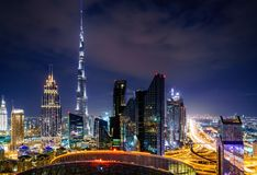 Dubai downtown skyline Royalty Free Stock Photo