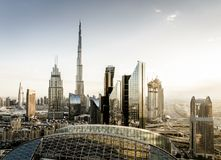 Dubai downtown skyline Stock Photos