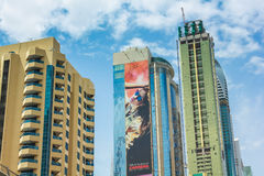Dubai Downtown skyscrapers Royalty Free Stock Images