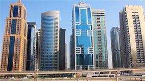 Dubai downtown. United arab emirates stock video footage