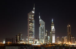 Dubai Dowtown at ngiht Royalty Free Stock Image
