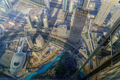 Dubai early morning aerial cityscape Royalty Free Stock Images