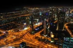 Dubai em a noite Imagem de Stock Royalty Free