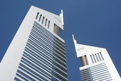 Dubai - emirates towers Stock Images
