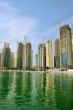 dubai emiratesmarina royaltyfria foton
