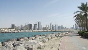 Dubai, Emiratos Árabes Unidos, a área do porto fotos de stock royalty free
