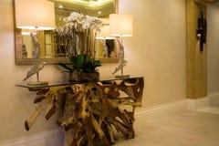dubai En el verano de 2016 Interior moderno y brillante en el complejo playero magnífico de Habtoor del hotel Fotografía de archivo