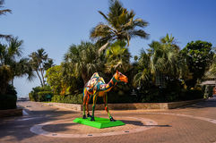 dubai En el verano de 2016 Oasis del hotel de la playa de Jumeirah en el Golfo Pérsico foto de archivo libre de regalías