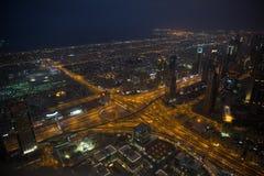Dubai en la noche Foto de archivo