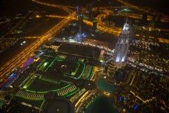 Dubai en la noche Fotografía de archivo libre de regalías