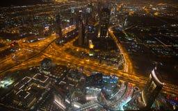 Dubai en la noche Imagen de archivo libre de regalías