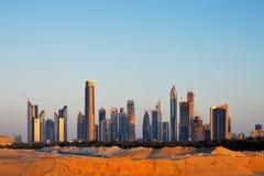 Dubai era apenas deserto apenas 30 anos há Fotografia de Stock Royalty Free