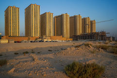dubai Estate 2016 Sviluppo delle aree del deserto, alloggi nuovi nella città del Dubai, vicino al nuovo hotel Ghaya grande Immagine Stock Libera da Diritti