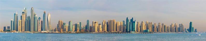 Dubai - The evening panorama of Marina towers Royalty Free Stock Photos