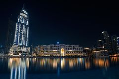 Dubai för värld för utelivfotografitravelin galleria royaltyfria foton