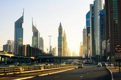 DUBAI FÖRENADE ARABEMIRATEN - FEBRUARI 5, 2018: Dubai i stadens centrum s Royaltyfria Foton