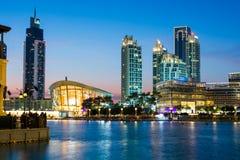 DUBAI FÖRENADE ARABEMIRATEN - FEBRUARI 5, 2018: Dubai opera och Arkivfoton