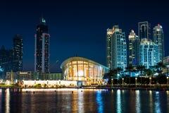 DUBAI FÖRENADE ARABEMIRATEN - FEBRUARI 5, 2018: Dubai operabuil Royaltyfri Fotografi