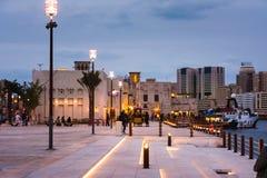 DUBAI FÖRENADE ARABEMIRATEN - JANUARI 30, 2018: Al Fahidi Histor Royaltyfri Bild