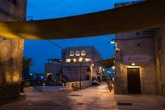 DUBAI FÖRENADE ARABEMIRATEN - JANUARI 30, 2018: Al Fahidi Histor Royaltyfria Bilder