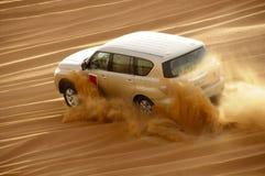 DUBAI FÖRENADE ARABEMIRATEN - MARS 26: Safari runt om Dubai 26 marsch 2017 Fotografering för Bildbyråer