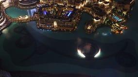 Dubai famous fountain time lapse from high Stock Photo