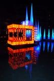 Dubai-Festival Wasser-des Drachen der Licht-2014 Lizenzfreies Stockfoto