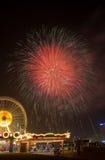 Dubai-Feuerwerke Stockbilder