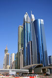 Dubai financial district. Skyscrapers of financial and business district of Dubai, United Arab Emirates Stock Photography