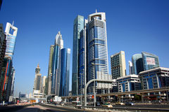 Dubai financial district Royalty Free Stock Photos